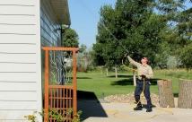 JanTech Pest Control - Spraying up high
