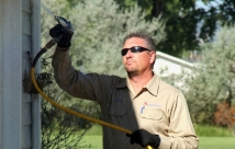 JanTech Pest Control - Spraying up high for flying insects and pests